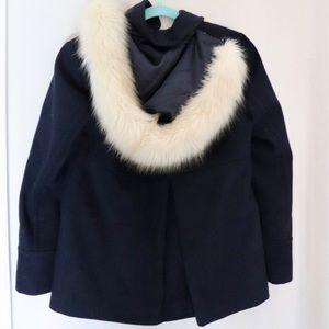 Topshop coat with fur